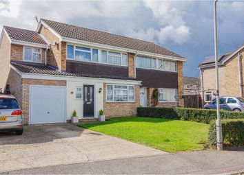 Thumbnail 4 bed semi-detached house for sale in Browning Close, Newport Pagnell