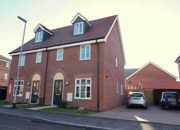 Thumbnail 3 bed terraced house for sale in Reeds Way, Norwich