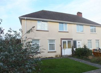 Thumbnail 3 bed semi-detached house for sale in Poyers Avenue, Pembroke, Pembrokeshire