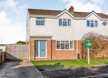 Thumbnail 3 bed semi-detached house for sale in Highfields, Brackla, Bridgend