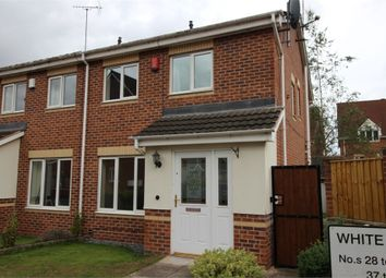 Thumbnail 3 bed semi-detached house to rent in White Rose Avenue, Mansfield, Nottinghamshire