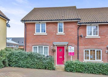 Thumbnail 3 bed end terrace house for sale in Woodpecker Way, Costessey, Norwich