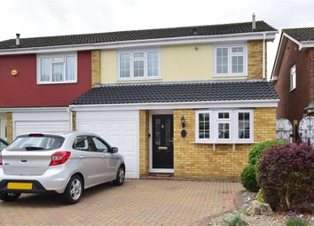 Thumbnail 3 bed semi-detached house for sale in Chevington Way, Hornchurch, Essex