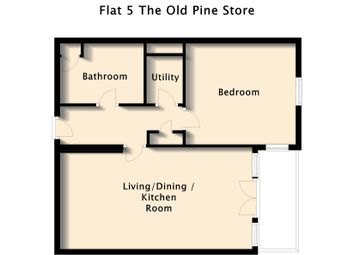 Thumbnail 1 bed flat to rent in The Old Pine Store, Coxons Yard, Ashbourne