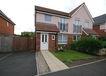 Thumbnail 3 bed semi-detached house for sale in Coneygarth Place, Ashington