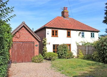 Thumbnail 3 bed semi-detached house for sale in Loddon Corner Road, Kirstead Green (Near Brooke), Norwich, Norfolk