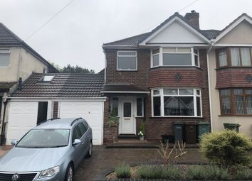Thumbnail 3 bed semi-detached house to rent in Greyfort Crescent, Solihull