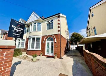 Thumbnail 3 bed semi-detached house for sale in Pierston Avenue, Blackpool, Lancashire, .