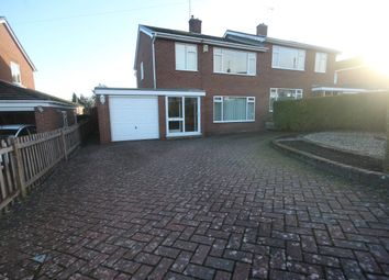 Thumbnail 3 bed semi-detached house to rent in Pont Adam Crescent, Ruabon, Wrexham