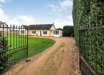 Thumbnail 4 bed detached bungalow for sale in Meadow Road, Milking Nook, Peterborough