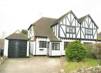 Thumbnail 3 bed detached house for sale in Manor Way, Egham, Surrey