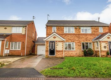 Thumbnail 3 bed semi-detached house for sale in Motcombe Way, Cramlington, Northumberland