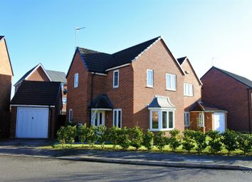 Thumbnail 3 bedroom detached house for sale in Hudson Way, Grantham