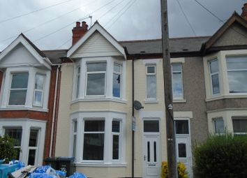 Thumbnail 5 bedroom terraced house to rent in Spencer Avenue, Earlsdon, Coventry