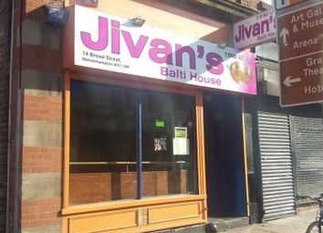 Thumbnail Restaurant/cafe to let in Broad Street, Wolverhampton