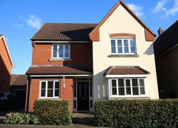 Thumbnail 4 bed detached house for sale in Linnet Drive, Stowmarket