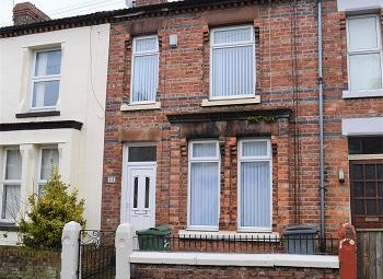 Thumbnail 3 bed terraced house to rent in Tudor Road, Tranmere, Wirral