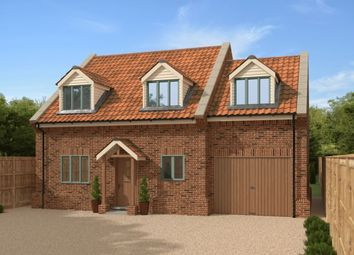Thumbnail 4 bed detached house for sale in Fakenham Road, East Bilney, Dereham