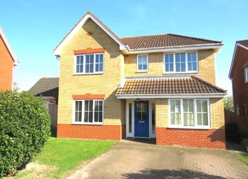 Thumbnail 4 bed detached house for sale in Fieldfare Way, Royston