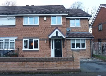 Thumbnail 4 bed semi-detached house for sale in Lower Moat Close, Heaton Norris