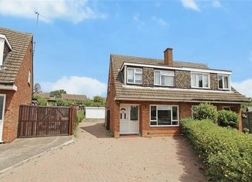 Thumbnail 3 bed semi-detached house for sale in Quantock Close, Putnoe, Bedfordshire