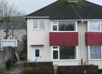 Thumbnail 3 bed semi-detached house to rent in Broomfield Drive, Plymouth