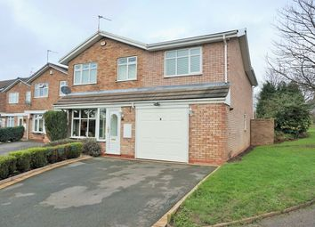 Thumbnail 4 bed detached house for sale in Ensbury Close, Willenhall