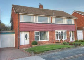 Thumbnail 3 bed semi-detached house for sale in Bracknell Gardens, Chapel House, Newcastle Upon Tyne