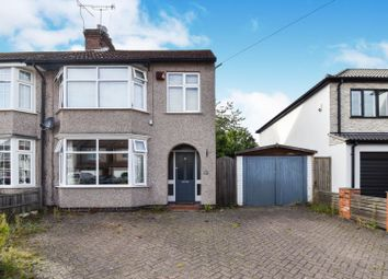 3 bed semi-detached house for sale in Grasmere Avenue, Coventry CV3