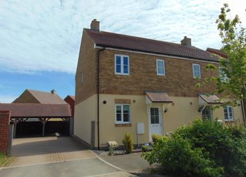 Thumbnail 3 bed semi-detached house to rent in Damara Way, Bridgefield, Ashford