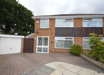 Thumbnail 3 bed semi-detached house for sale in Ambleside Close, Bromborough, Wirral