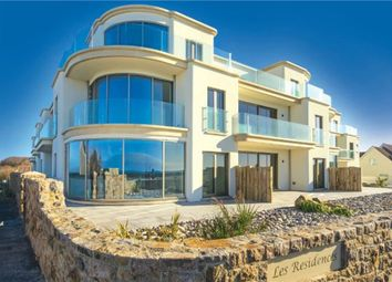 Thumbnail 3 bed flat for sale in Apartment 4 Les Residences, Cobo Bay, Castel