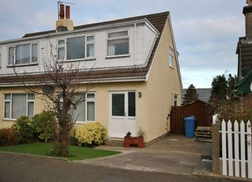 Thumbnail 3 bed semi-detached house for sale in Close Narradale, Ramsey, Isle Of Man