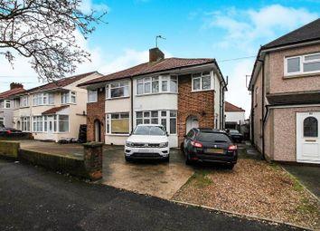 Thumbnail 3 bed semi-detached house to rent in Kingshill Drive, Kenton, Harrow