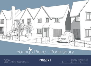 Thumbnail 4 bed semi-detached house for sale in Plot 13 Young's Piece, Pontesbury, Shrewsbury