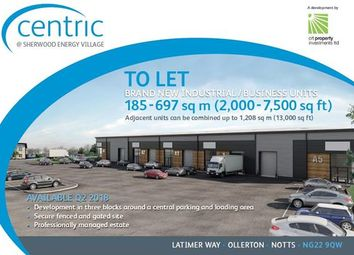 Thumbnail Light industrial to let in Centric, Latimer Way, Ollerton, Nottingham