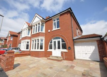Thumbnail 4 bedroom semi-detached house for sale in Cornwall Avenue, Bispham, Blackpool, Lancashire