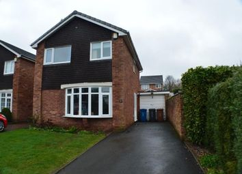 Thumbnail 3 bed detached house for sale in Chester Close, Off York Close, Lichfield, Staffordshire