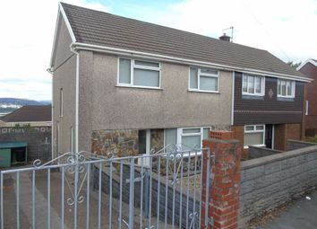 Thumbnail 3 bed semi-detached house for sale in Lan Deri, Winch Wen, Swansea
