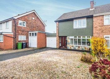 Thumbnail 3 bedroom semi-detached house for sale in Lyndale Drive, Wednesfield, Wolverhampton