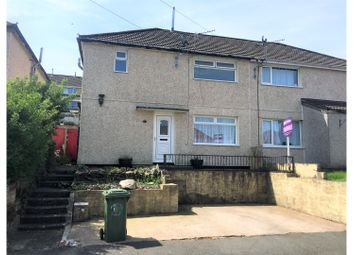 Thumbnail 3 bed semi-detached house for sale in Clydach Close, Glyncoch, Pontypridd