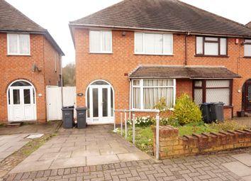 Thumbnail 3 bed semi-detached house to rent in Grestone Avenue, Handsworth Wood, Birmingham