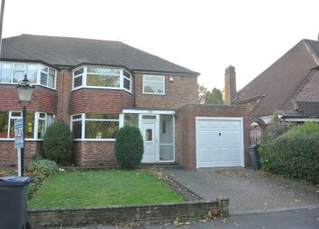 Thumbnail 3 bed semi-detached house to rent in Chester Road North, Sutton Coldfield, Birmingham