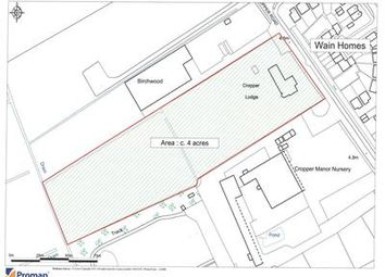 Thumbnail Commercial property for sale in Residential Development Land, Cropper Lodge, Cropper Road, Blackpool, Lancashire