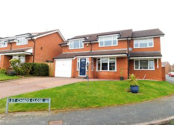 Thumbnail 4 bed detached house for sale in St Chads Close, Little Haywood, Stafford.