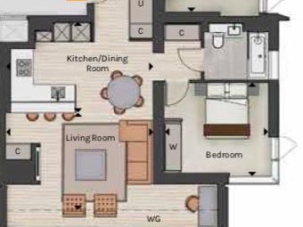 Thumbnail 1 bed flat for sale in Carrara Tower, 1 Bollinder Place, London