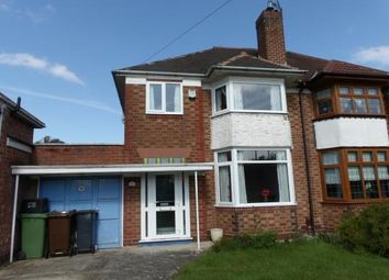 Thumbnail 3 bed semi-detached house for sale in Lyndon Road, Solihull, West Midlands, England