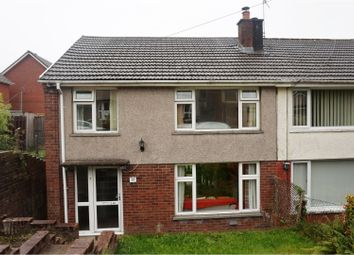 Thumbnail 3 bed semi-detached house for sale in Nantgwyn, Cwmdare, Aberdare