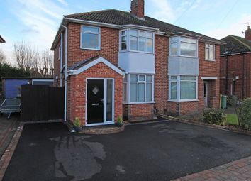 Thumbnail 3 bedroom semi-detached house for sale in Branting Hill Avenue, Glenfield, Leicester LE3, Glenfield,
