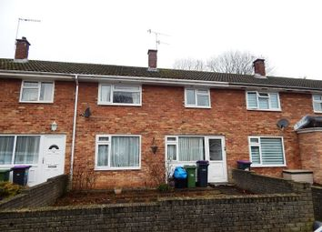 Thumbnail 3 bed terraced house to rent in Caernarvon Crescent, Llanyravon, Cwmbran